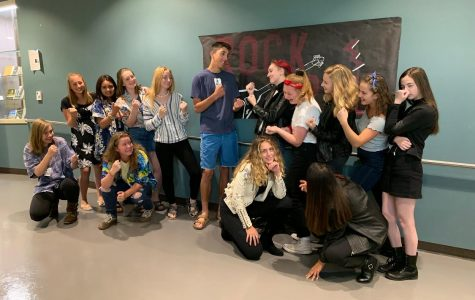 Leather and Leis fill the halls of Cheyenne during the Monday for Homecoming week's first dress up theme, Surfers vs. Greasers. Beyond these halls, the history of turf wars goes way deeper than swim trunks and switchblades… (as pictured above Left to Right, Top row; Skylar Korkowski, Kim Rosa, Raina Land, Carver Ward, Elora Probyn, Lucy Jarvis, Emma Delich, Rachel Moody, Kim Call. Bottom Row; Lena Bagwell, Karris Kelbel, Zoe Vaughn, Sophia McConnell)